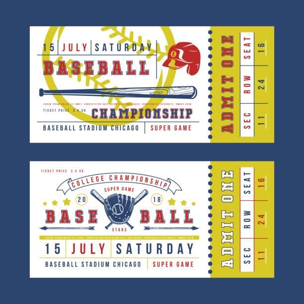 Best Baseball Ticket Illustrations, Royalty.
