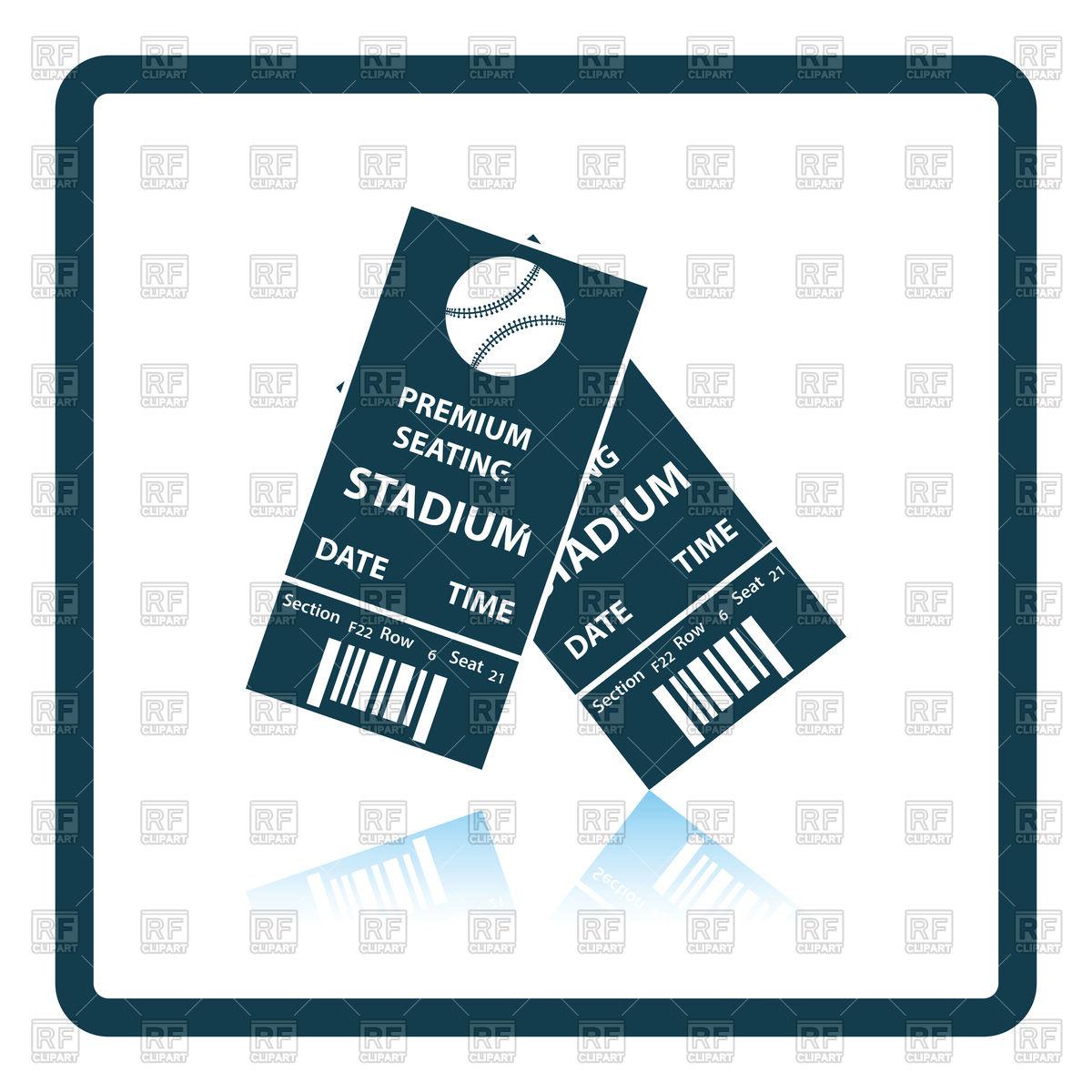 Icon of baseball tickets Stock Vector Image.