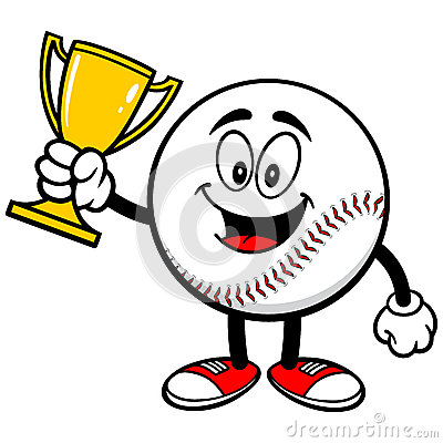 Baseball Trophy Stock Illustration.