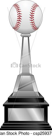 Vectors Illustration of Baseball Trophy.