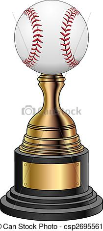 Vector Clip Art of Baseball Trophy.