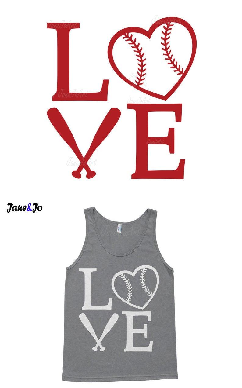 Love Baseball Svg, Baseball Heart Svg Files ,Mom svg, Softball Svg. Love  Baseball Clipart vector, DXF Cut files, cricut cut files, Sport svg.