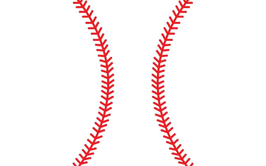 Red and white baseball, Baseball Stitch Softball Sport.