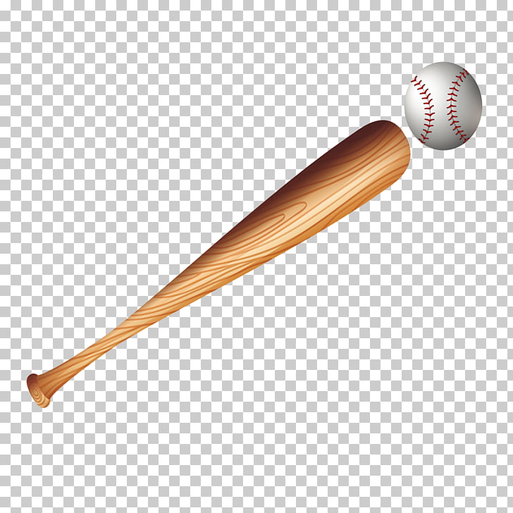 Baseball bat Animation Vecteur, baseball bat, brown baseball.