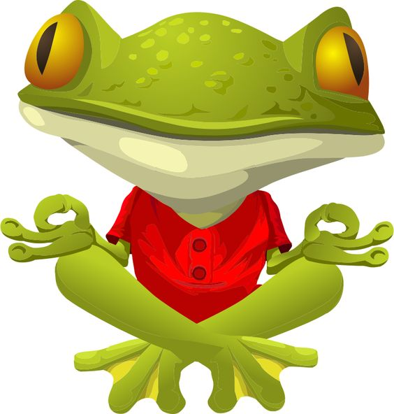 Yoga Frog (red) by jogdragoon.
