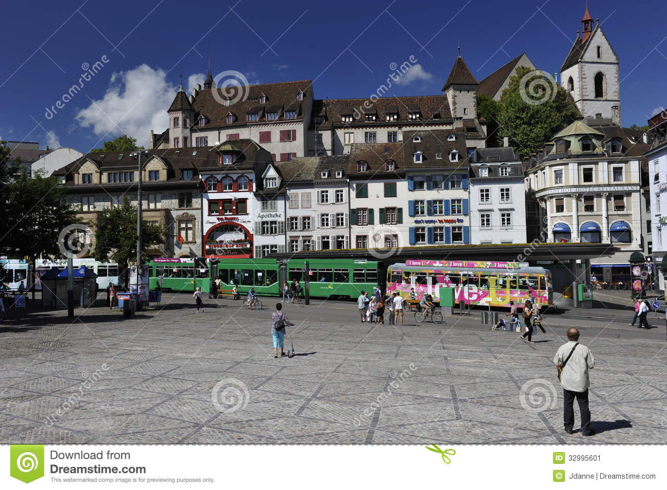 City Of Basel, Barfuesserplatz, Switzerland Editorial Photo.