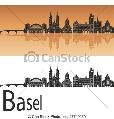 Clipart Vector of Basel skyline.eps.