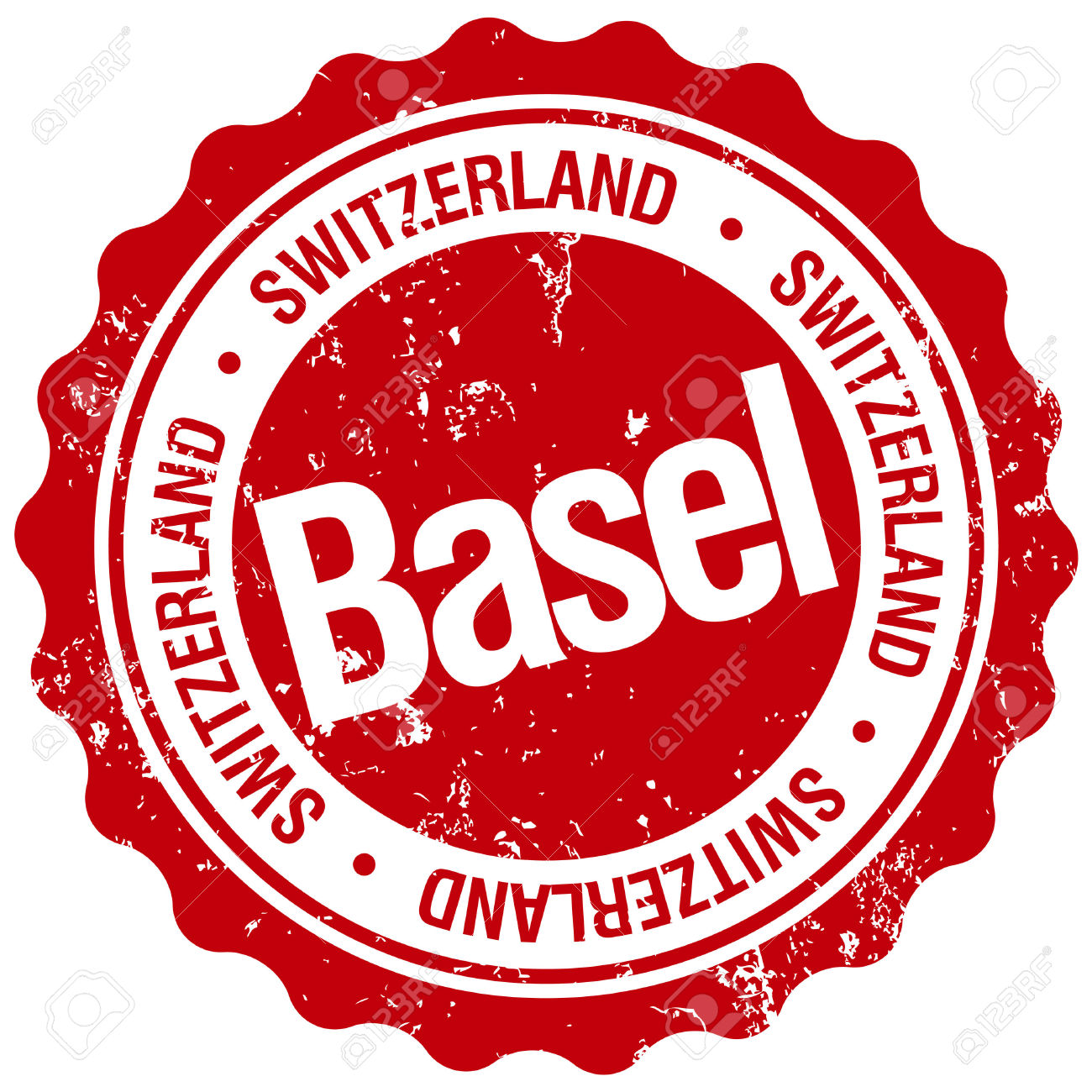 Basel Switzerland Stamp Royalty Free Cliparts, Vectors, And Stock.