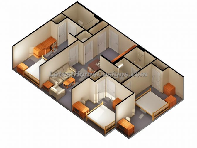 2 Bedroom Bath 3 Car Garage House Plans Arts Need For A Ho ~ Planskill.