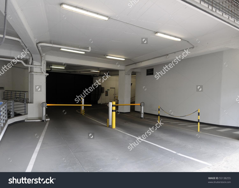Entrance Ramp Underground Parking Garage Stock Photo 55138255.