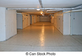 Stock Images of Monthly garage in a basement in a residential.