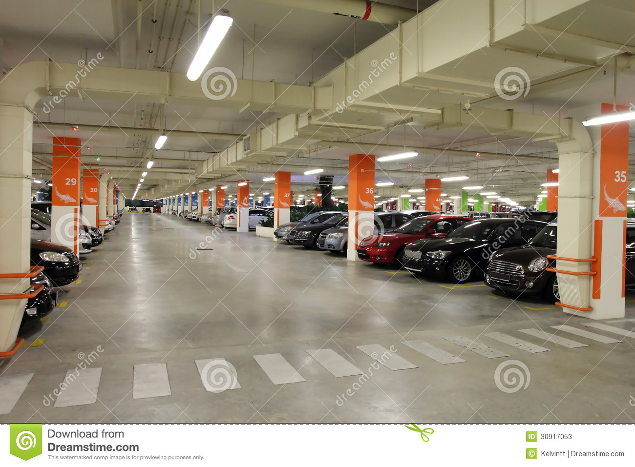 Basement Car Park Stock Photos.