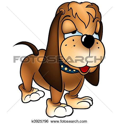 Stock Illustration of Dog Baset k0925796.