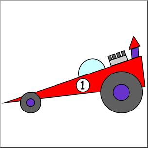 Clip Art: Basic Shapes: Race Car Color I abcteach.com.
