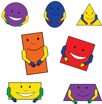 Basic Shapes Clipart W/andW/out Faces.