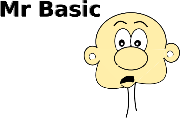 Mr Basic clip art Free Vector / 4Vector.