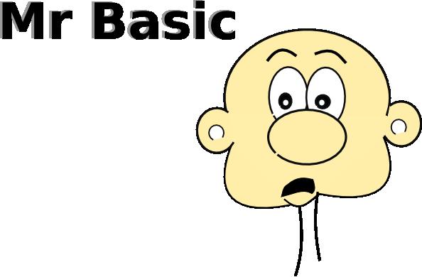 Mr Basic clip art Free Vector / 4Vector.
