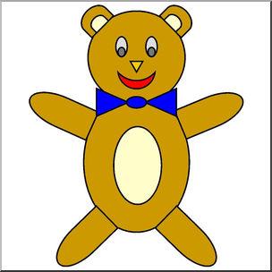 Clip Art: Basic Shapes: Teddy Bear Color.