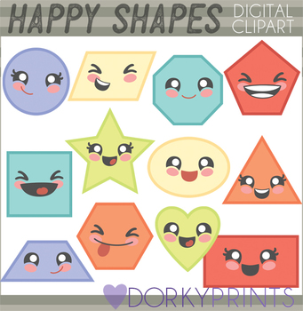 Basic Shapes Clipart by Dorky Doodles.