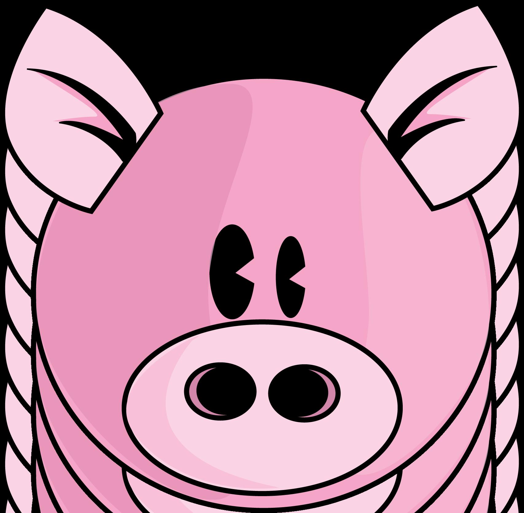 Pig clipart vector.
