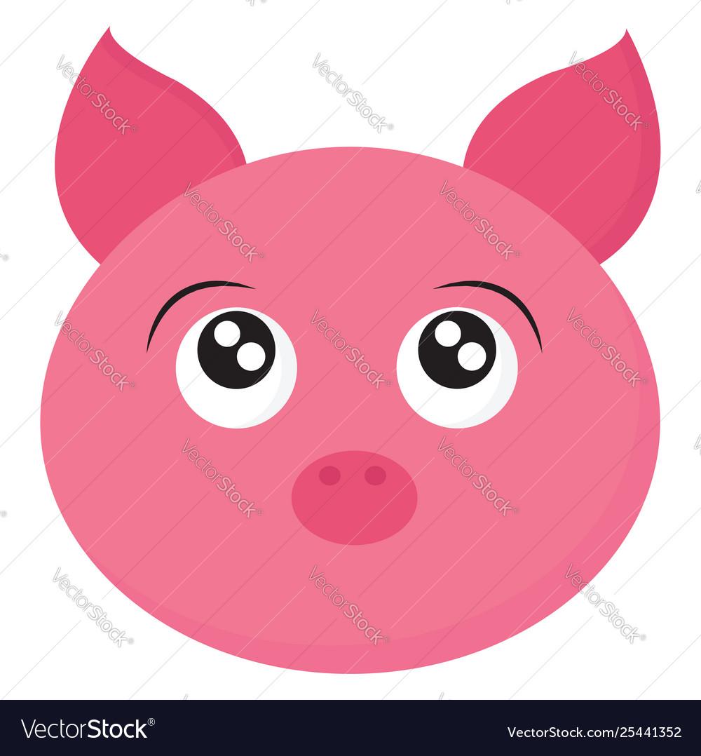 Clipart face a cartoon pig or color.