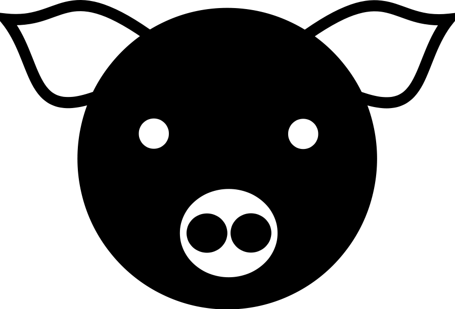Domestic pig Scalable Vector Graphics Clip art.