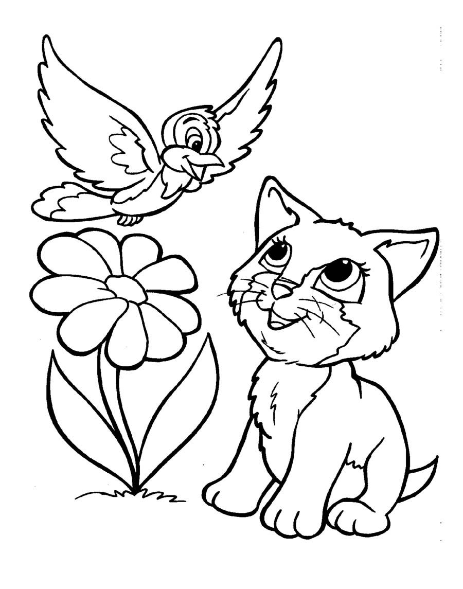 Free Cartoon Clipart Of Puppies Kitten Birds And The Bees.
