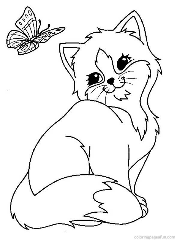 Cats and Kitten Coloring Pages 34.