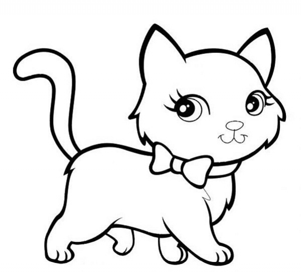 Baby Kitten Coloring Pages.