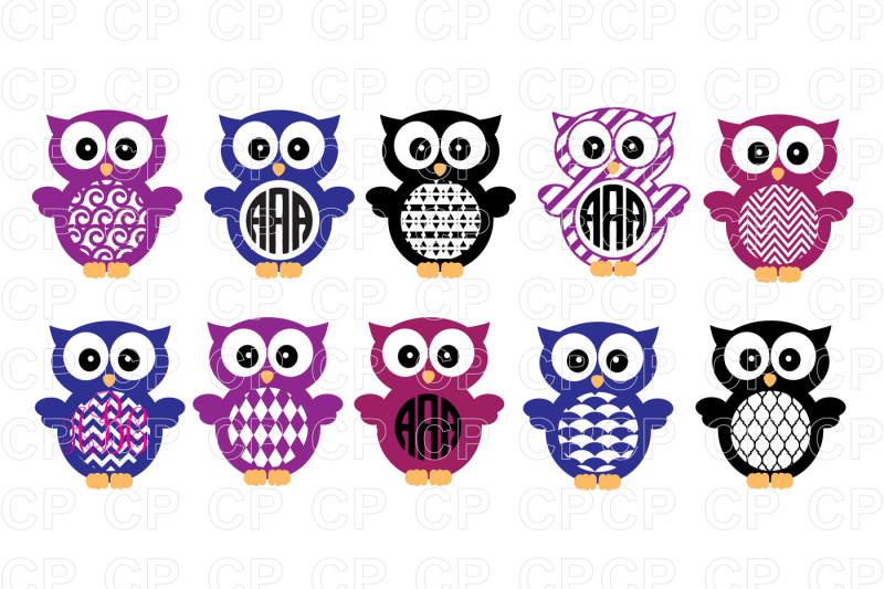 Free Owl SVG Bundle Cut Files, Owl Clipart Crafter File.