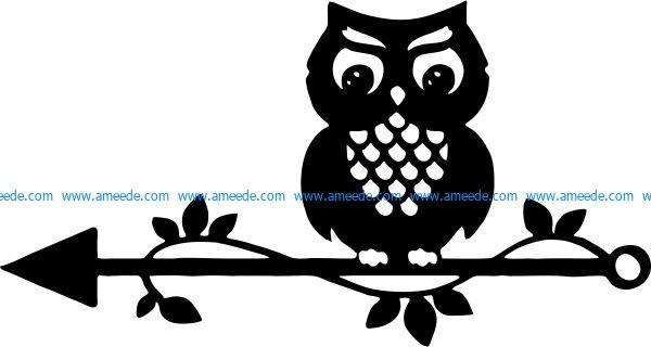 Owl template for Cricut Silhouette Digital Decal Clipart.