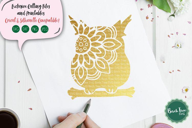 Owl Mandala SVG, Owl SVG, Owl Cut File, Owl Clipart, Stencil.