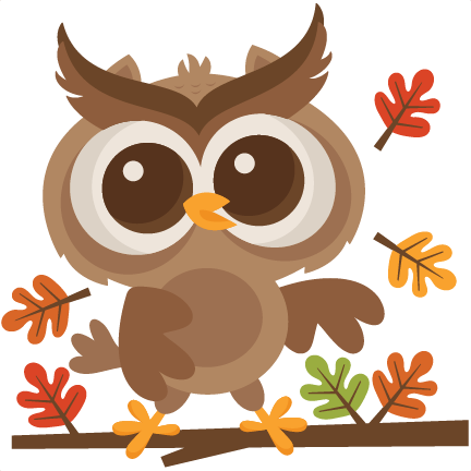 Fall Owl SVG Scrapbook Cut File Cute Cli #73712.