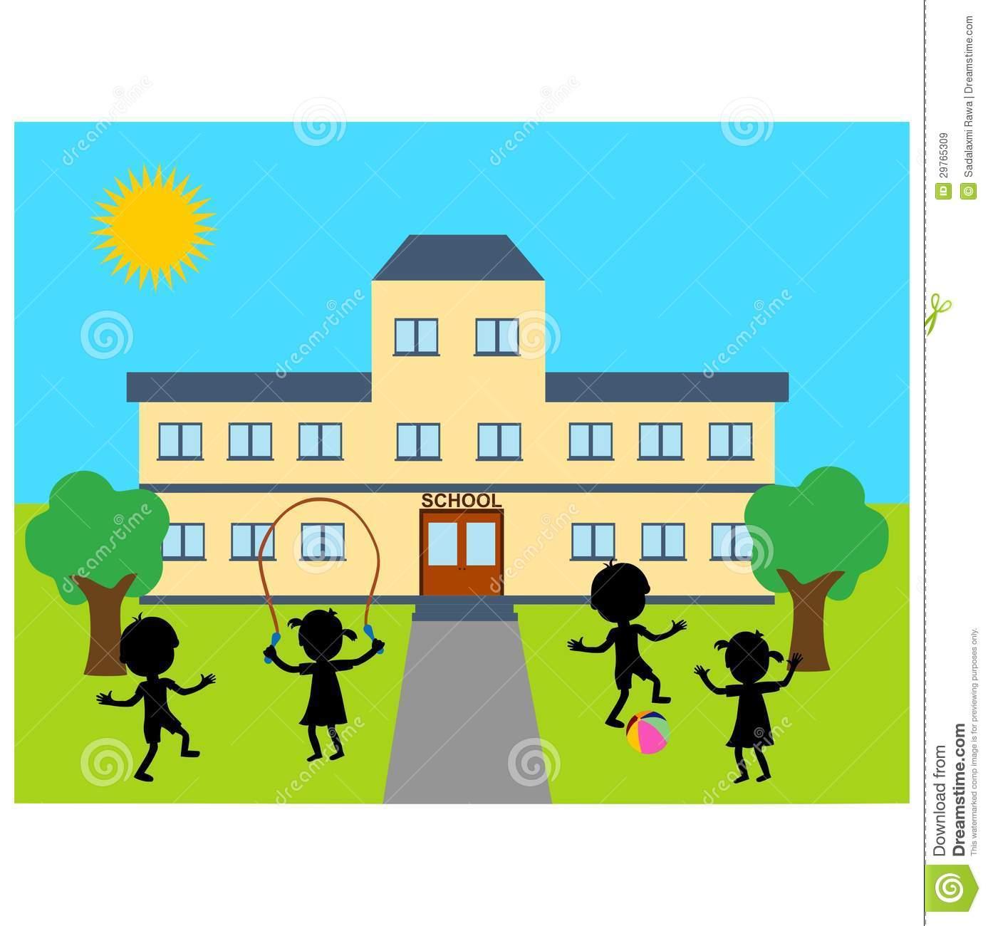 Schoolyard Clip Art.