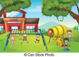 School yard fight clipart.