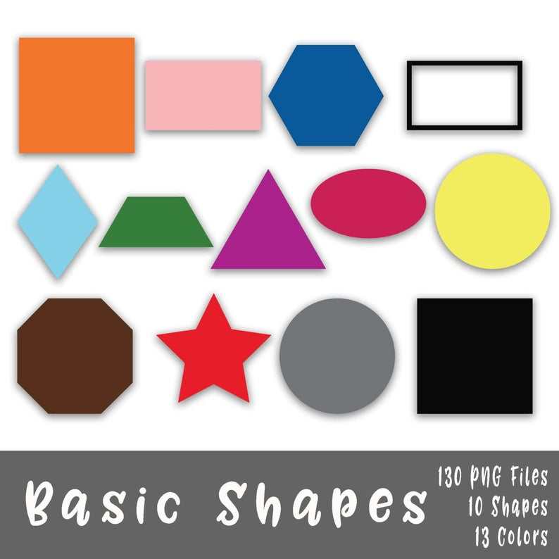 Basic Shapes Clip Art.