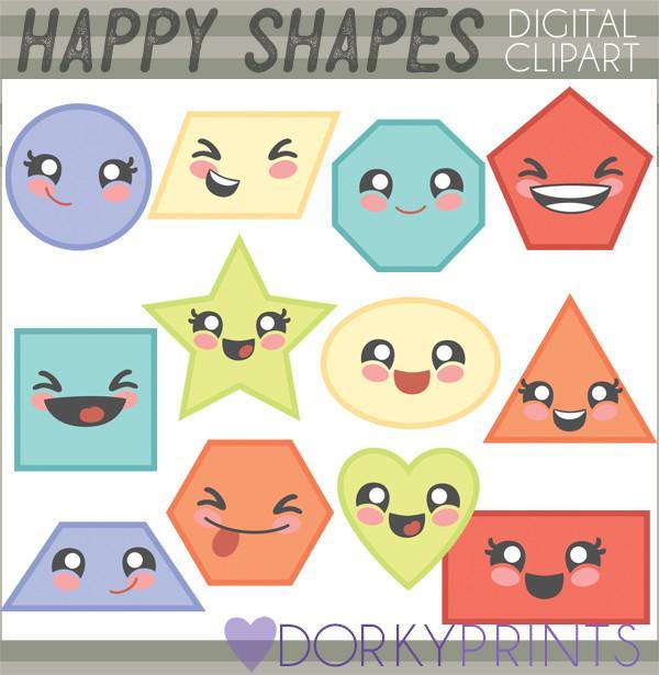 Basic Shapes School Clipart.