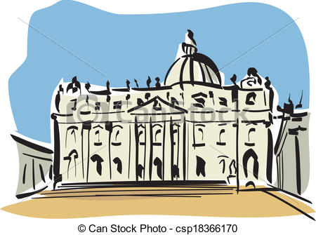 Vectors Illustration of Rome (St. Peter's Basilica).