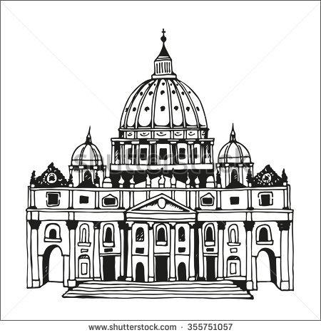 Vatican Cathedral St Peter Stock Vectors & Vector Clip Art.