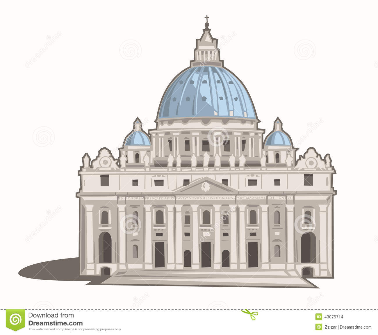 St. Peter's Basilica Stock Photo.