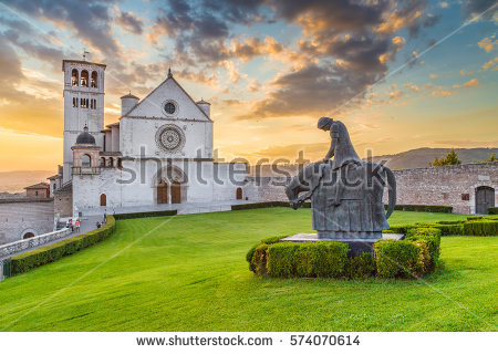 Famous Basilica St Francis Assisi Basilica Stock Photo 221851711.