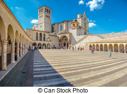Stock Photo of Famous Basilica of St. Francis of Assisi (Basilica.