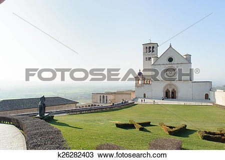 Stock Photo of Papal Basilica of St. Francis of Assisi k26282403.