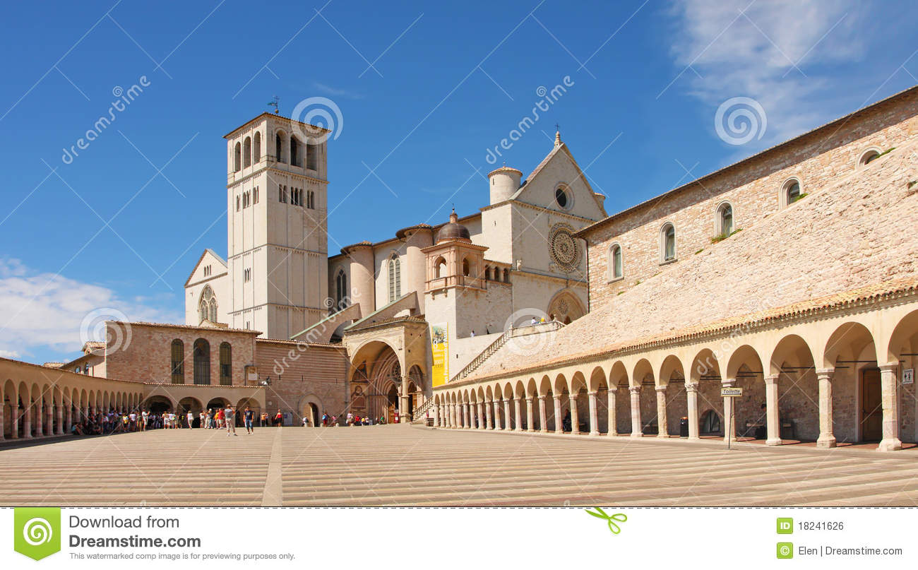 Italy, Basilica Of San Francesco D'Assisi Royalty Free Stock Image.