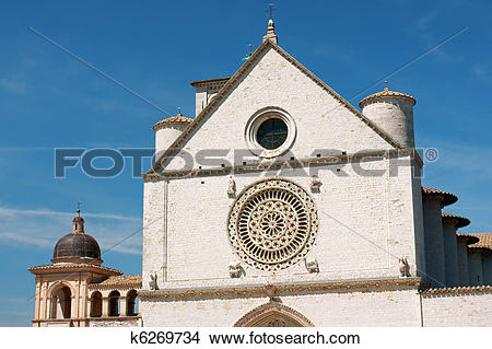 Stock Photo of Papal Basilica of Saint Francis of Assisi.