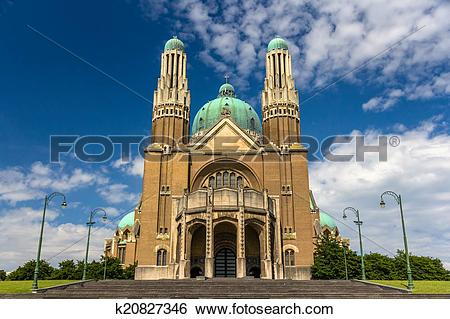 Stock Images of Basilica of the Sacred Heart.