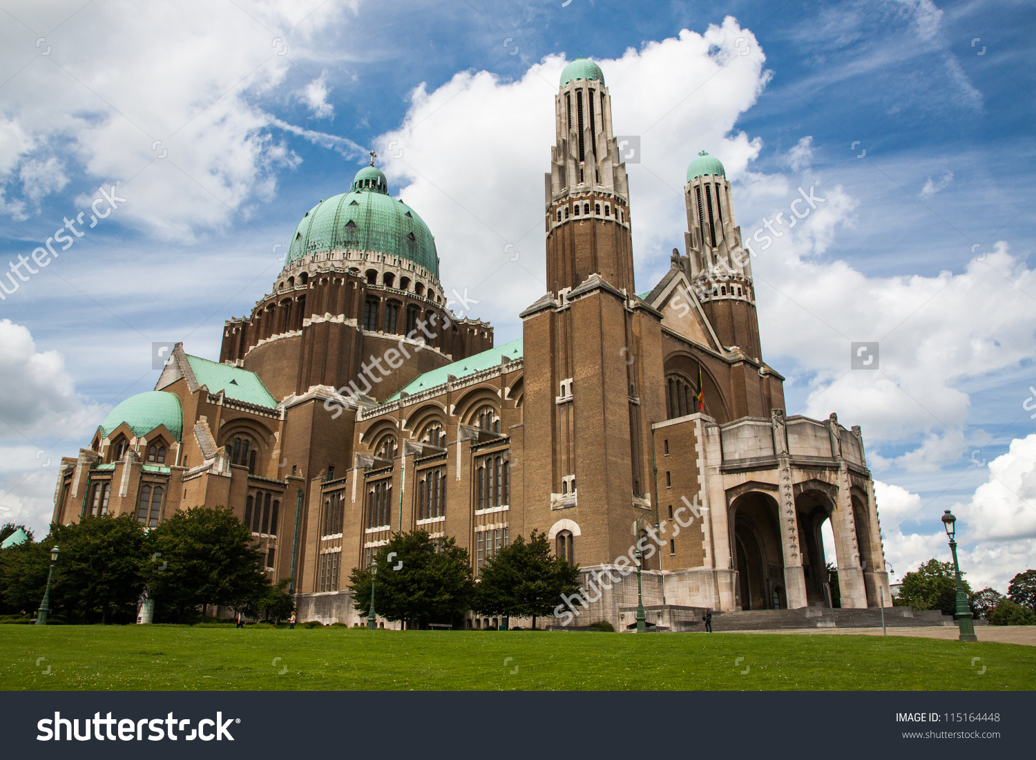 Basilica Sacred Heart Koekelberg Brussels Belgium Stock Photo.