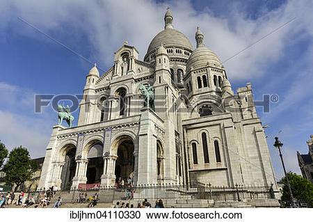 Stock Photography of Basilica of the Sacred Heart of Paris or.