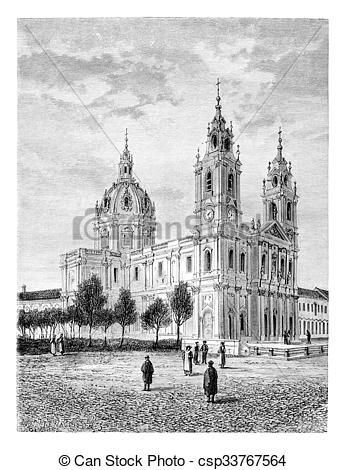 Stock Illustration of Basilica of the Sacred Heart of Jesus of.