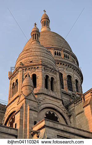 Stock Photo of Basilica of the Sacred Heart of Paris or Sacre.